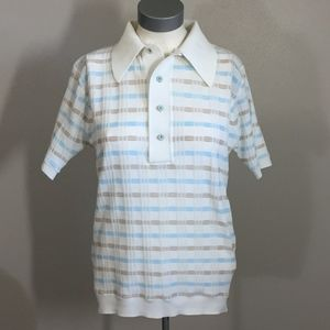Vintage Men's 1970s JCPenney Striped Polo Shirt